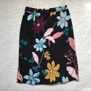 Who What Wear Skirt Floral Print